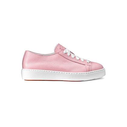 Sneaker in Morbida Pelle Rosa Santoni