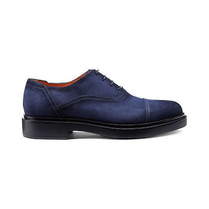 Stringata Oxford in suede Santoni