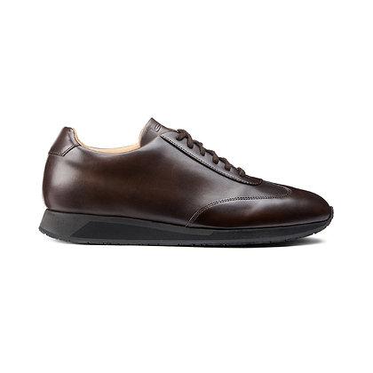Sneaker Santoni Native in pelle marrone