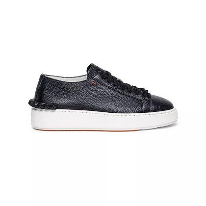 Sneaker Dettaglio Nodini in morbida pelle nera
