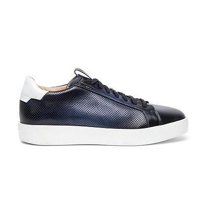 Sneaker   in Pelle Traforata Blu