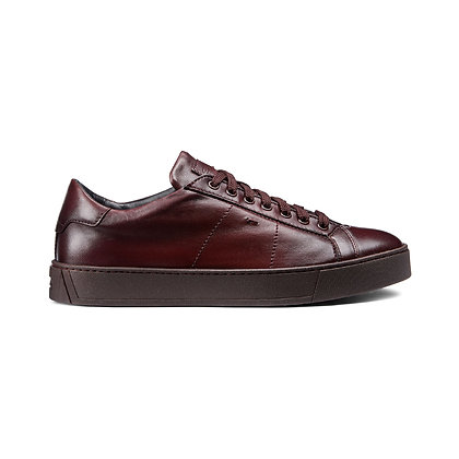 Sneaker  in Nappa Super Soft Bordeaux
