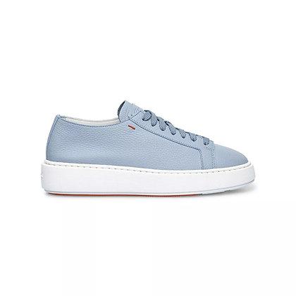 Sneaker  in Pelle  Sfoderata Celeste
