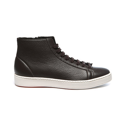 Sneaker Clean in morbidissima pelle marrone