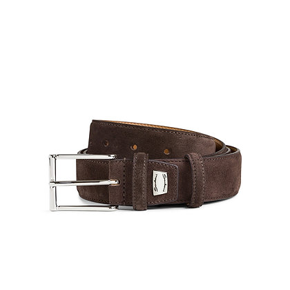 Cintura Santoni regolabile in suede Uomo