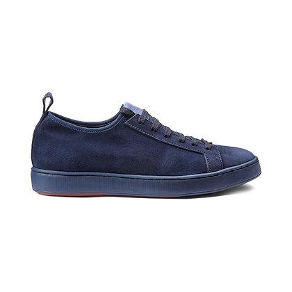 Sneaker in camoscio elasticizzato blu