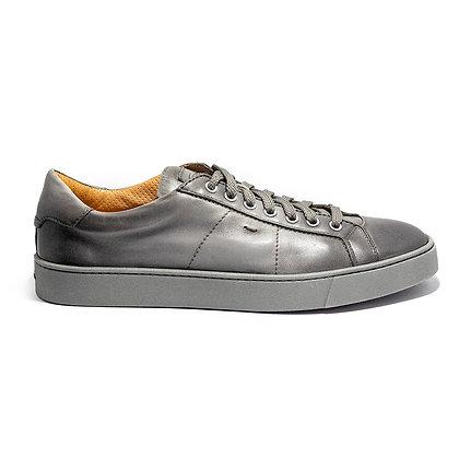 Sneaker Santoni in Pelle Grigia Morbida