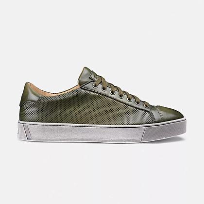 Sneaker Gloria Santoni in pelle verde