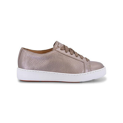 Sneaker In Pelle Laminata Oro