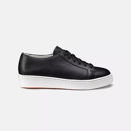 Sneaker Santoni estiva in pelle nera sfoderata