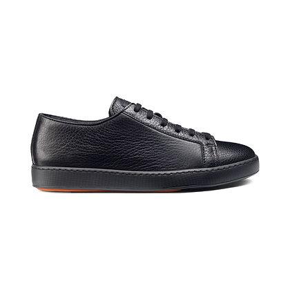 Sneakers Santoni in Pelle Nera Bottalata