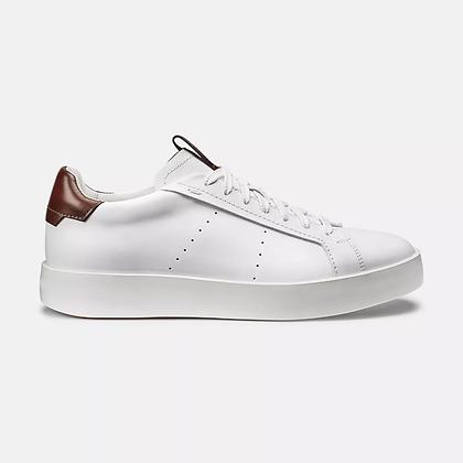 Sneaker Wide in pelle bianca Santoni