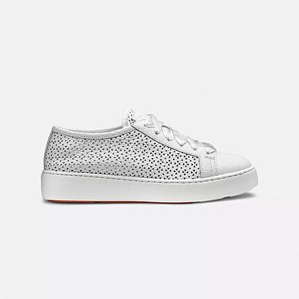 Sneaker Clean donna Santoni in pelle morbida