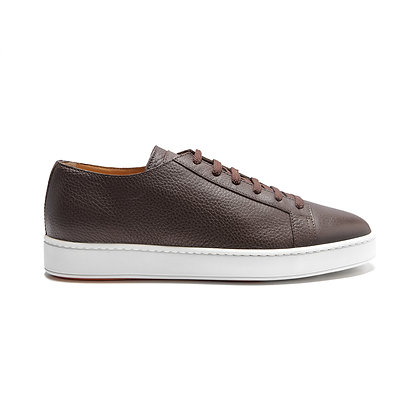 Sneakers Clean in Pelle Marrone Bottalata