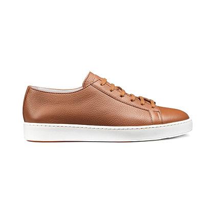 Sneaker Clean Uomo Santoni in Pelle Nocciola