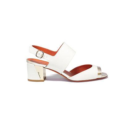 Sandalo in Pelle Bianca