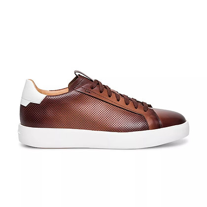 Sneaker   in Pelle Traforata Marrone