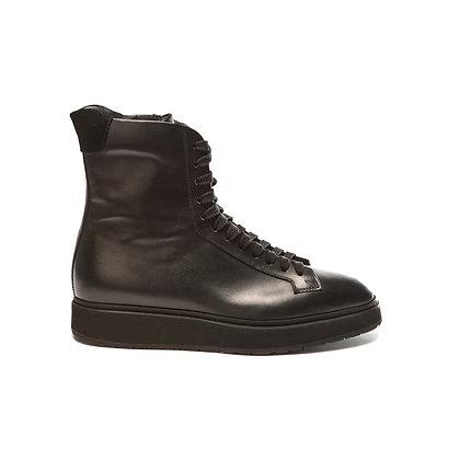 Sneaker Dip in pelle nera Santoni Donna