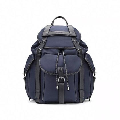 Backpack in nylon e pelle riciclata Santoni