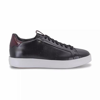 Sneaker Wide in pelle nera Santoni