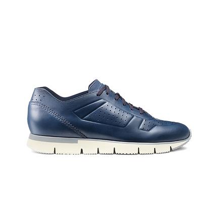 Sneaker Hyper in Pelle Blu