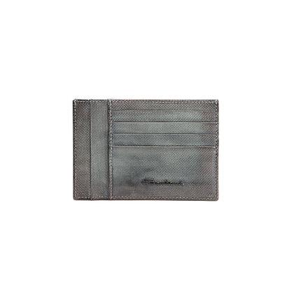 Porta Carte Santoni in Pelle Verde Uomo