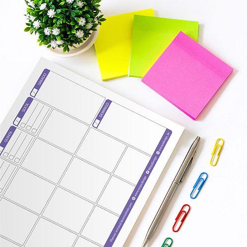 Planner semanal (lilás)