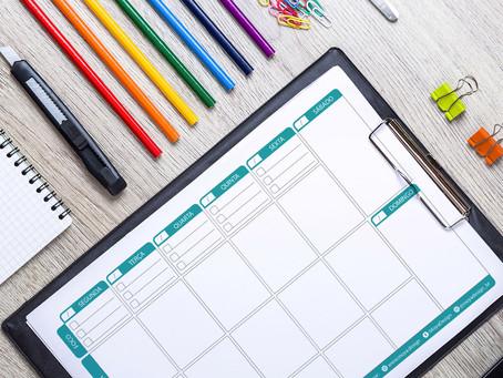 Planner semanal: tenha uma visão geral de sua semana e não perca o foco!
