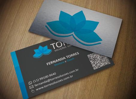 Layout para cartão de visitas
