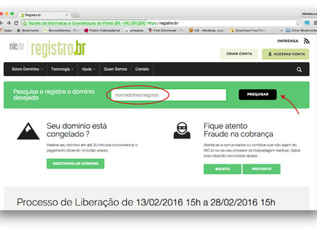 Como registrar o seu domínio (www)?
