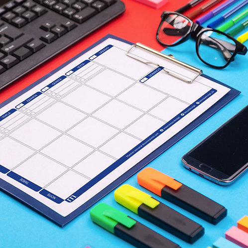 Planner semanal (azul)