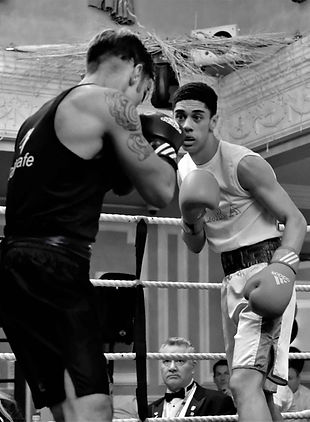 Boxer during a bout