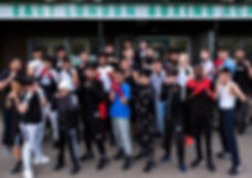 Group shot outside the East London Boxing Academy gym