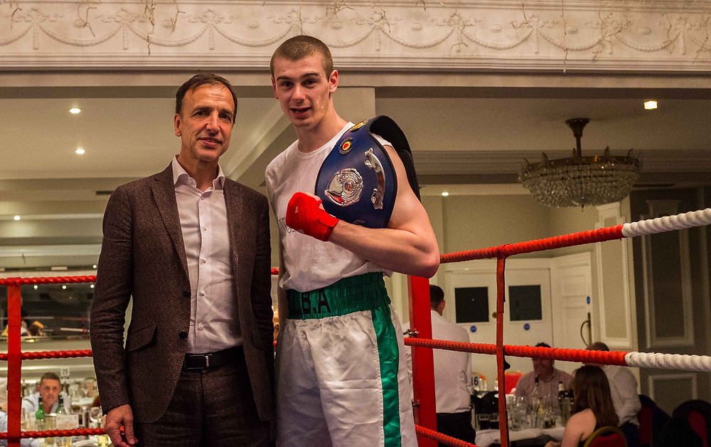 E.L.B.A club captain Jack Daly following his 10th May win with Breyer Group MD Tim Breyer