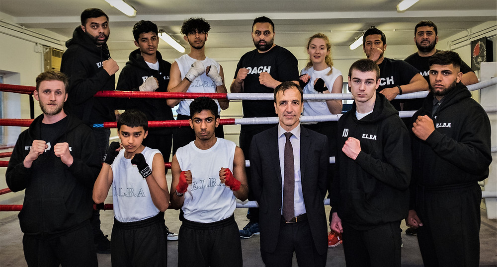 E.L.B.A squad boxers and coaches with Breyer Group MD Tim Breyer