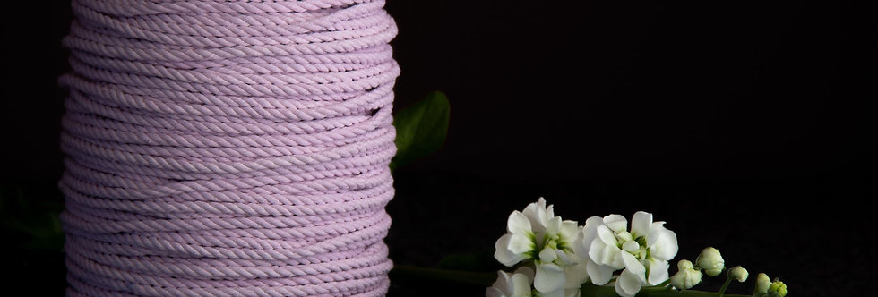 Recycled Cotton Rope 5mm - Iced Lilac