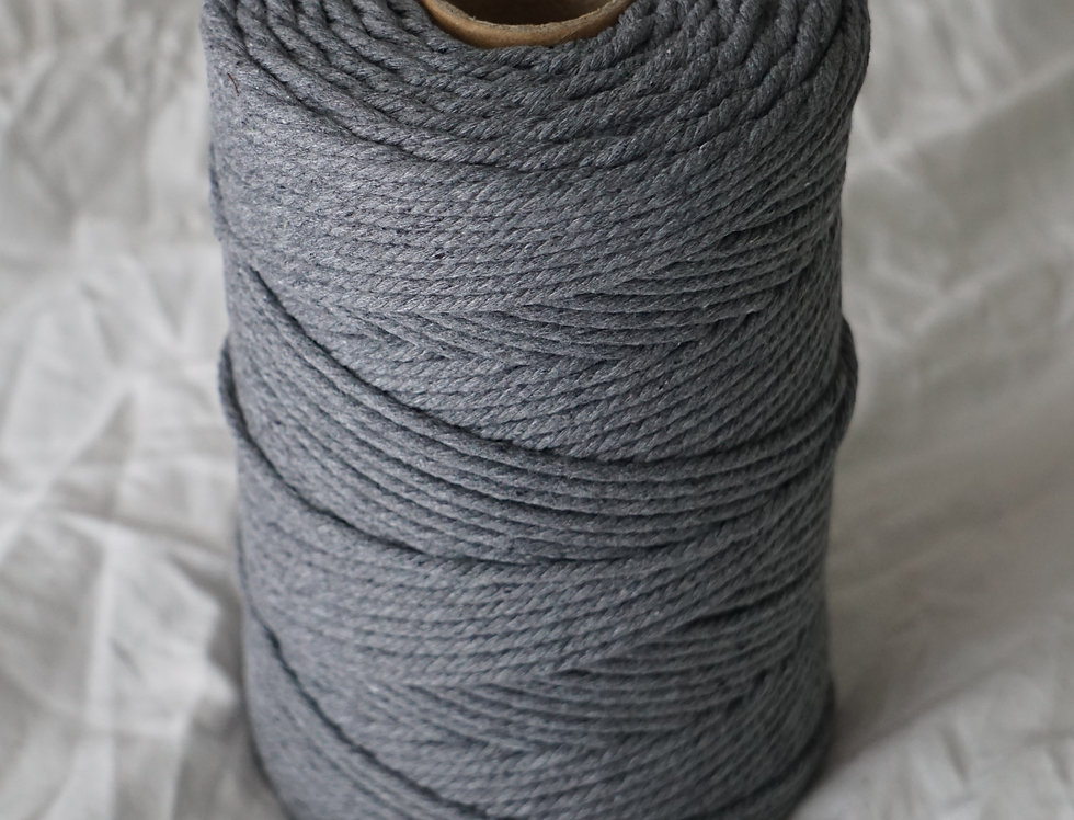 Recycled Cotton Rope 4mm - Charcoal