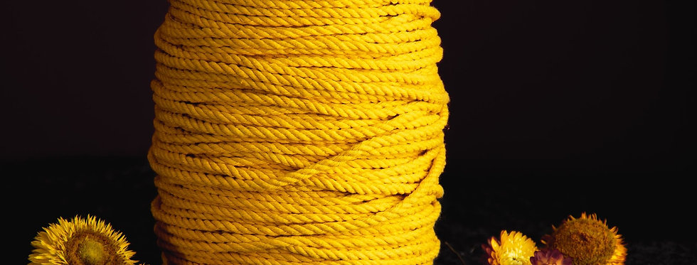 Recycled Cotton Rope 5mm - Egg Yolk