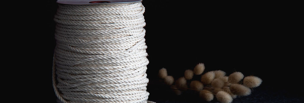 Recycled Cotton Rope 5mm - Natural