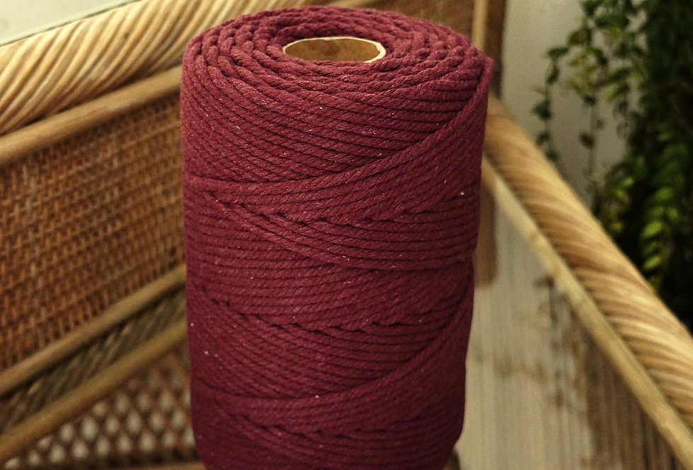 Recycled Cotton Rope 4mm - Merlot