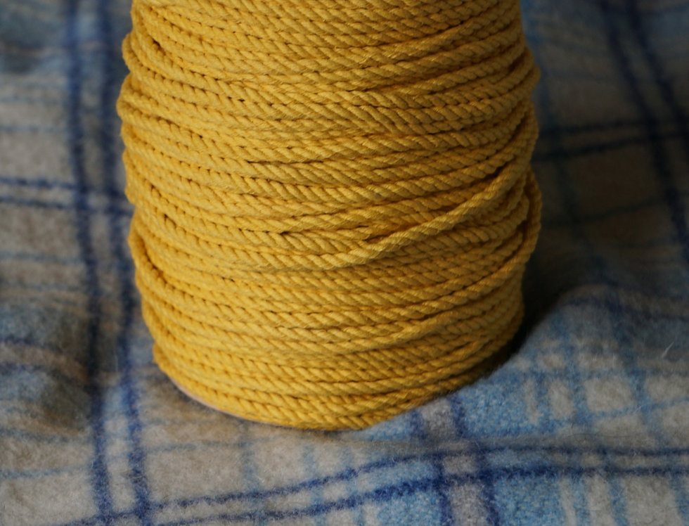 Recycled Cotton Rope - Egg Yolk