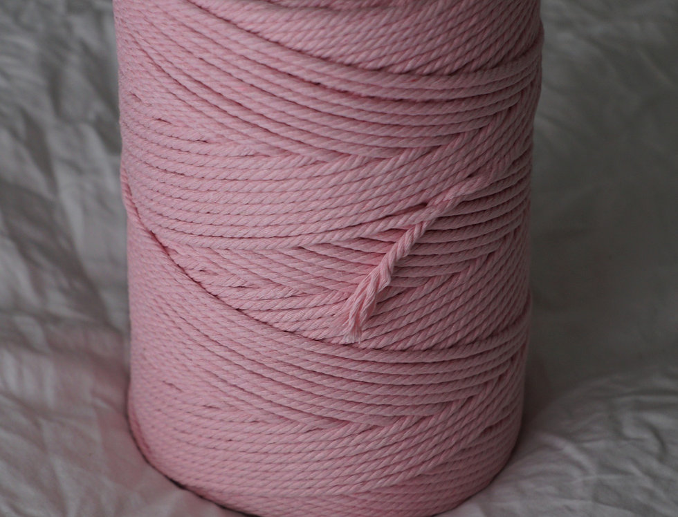 Recycled Cotton Rope 4mm - Vintage Pink
