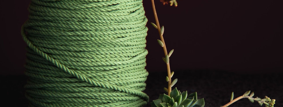 Recycled Cotton Rope 5mm - Artichoke
