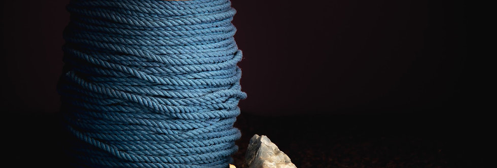 Recycled Cotton Rope 5mm - Azure