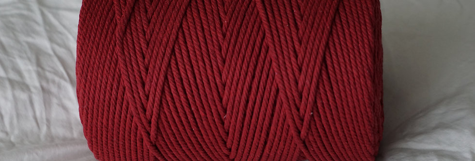 Recycled Cotton Rope 4mm - Ruby Red