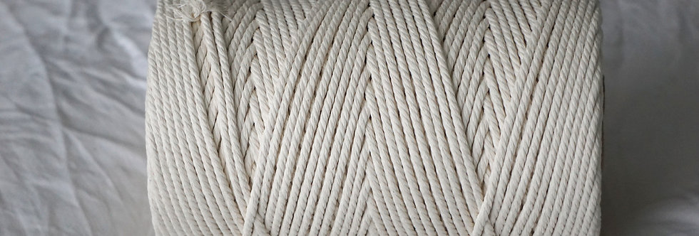 Recycled Cotton Rope 4mm - Natural