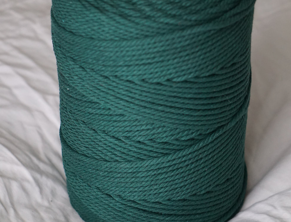 Recycled Cotton Rope 4mm - Forest