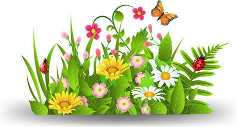 spring_flower_with_grass_art_background_