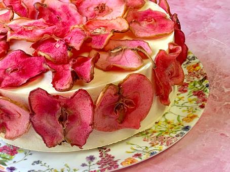 עוגת מוס דבש תפוח וקינמון
