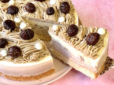 עוגת מוס ערמונים ושוקולד לבן